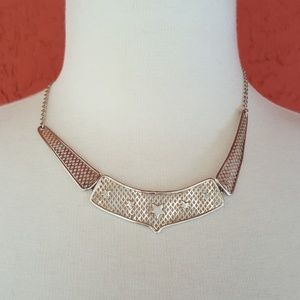 Jewelry - Sterling 3 panel necklace